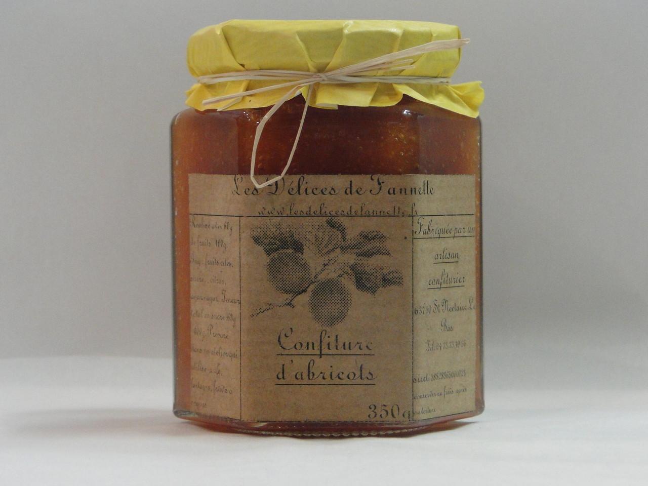 Confiture d'abricots Les délices de Fannette