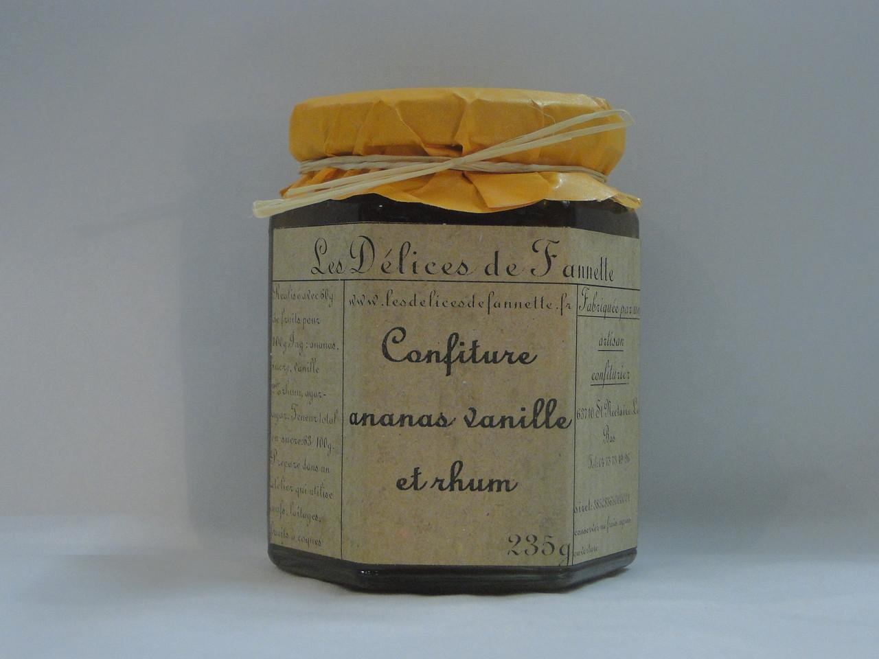 Confiture ananas rhum vanille Les Délices de Fannette