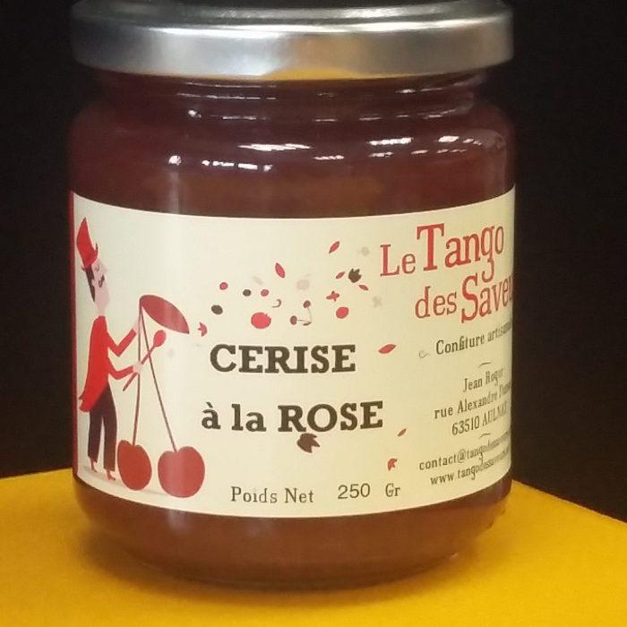Confiture cerise à la rose