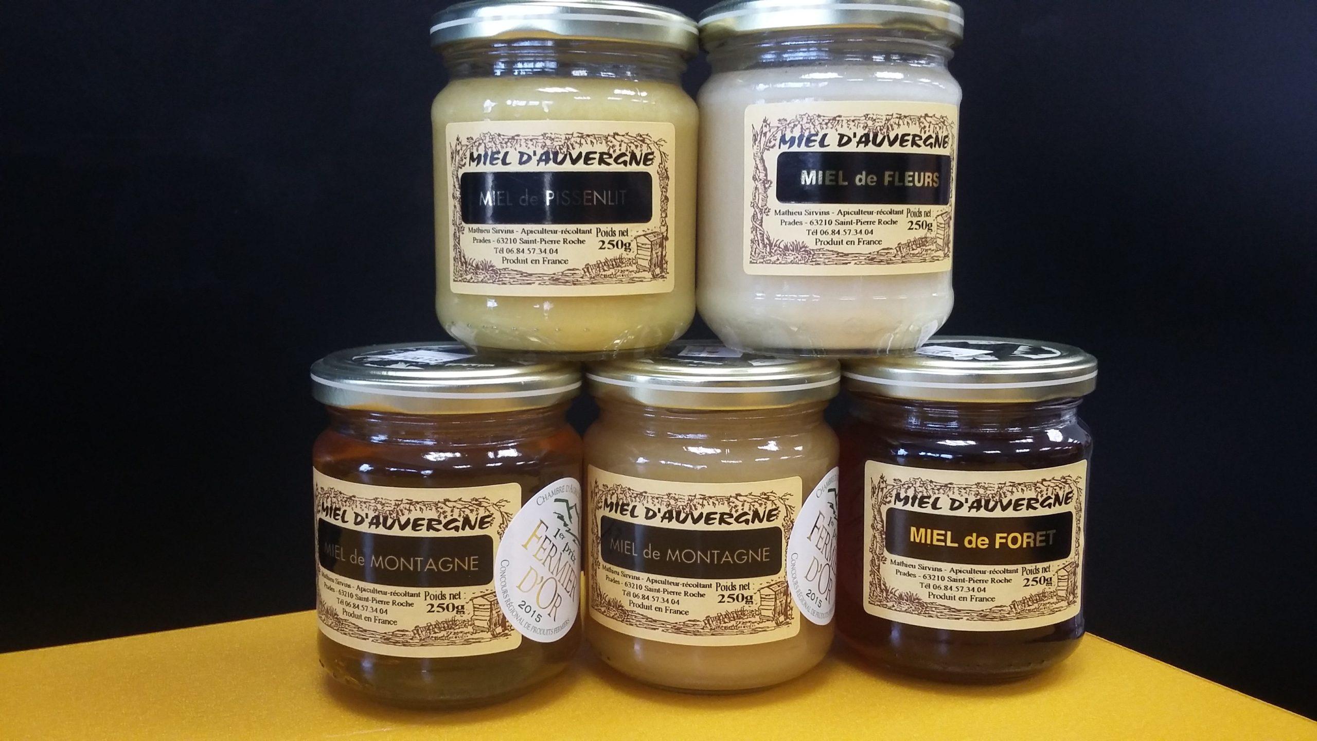 Sélection de miels d'auvergne