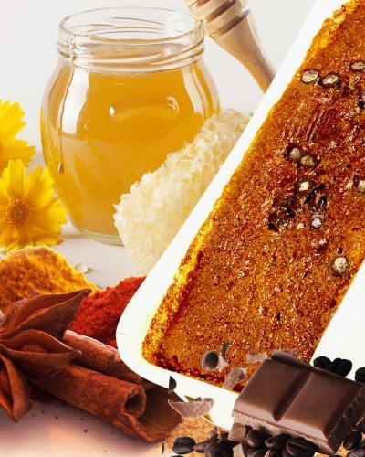 Cake miel morceaux de chocolat