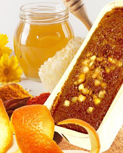 Cake miel orange