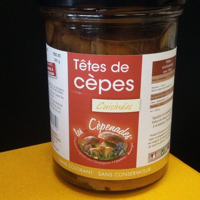 Têtes de cèpes cuisinées Les cèpenades